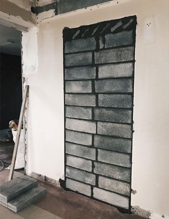 Grey Wall Brick Under Renovation Singapore